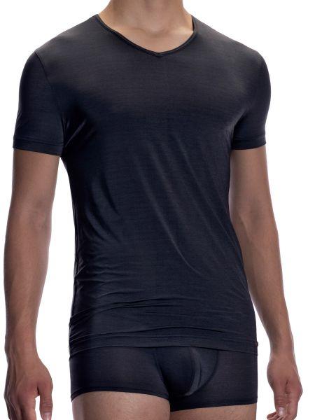 Olaf Benz RED1904: V-Neck-Shirt, platin