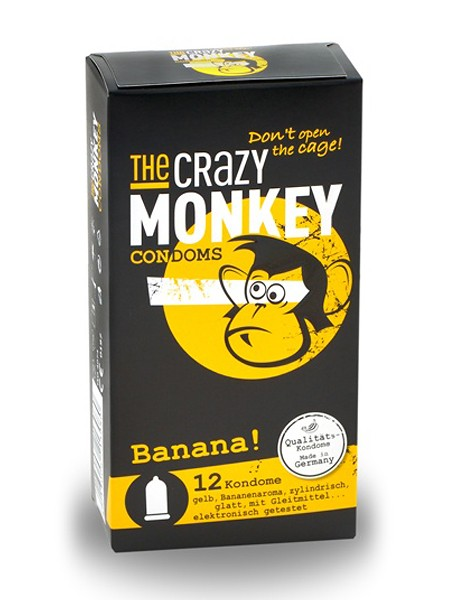 The Crazy Monkey Condoms Banana 12er Pack