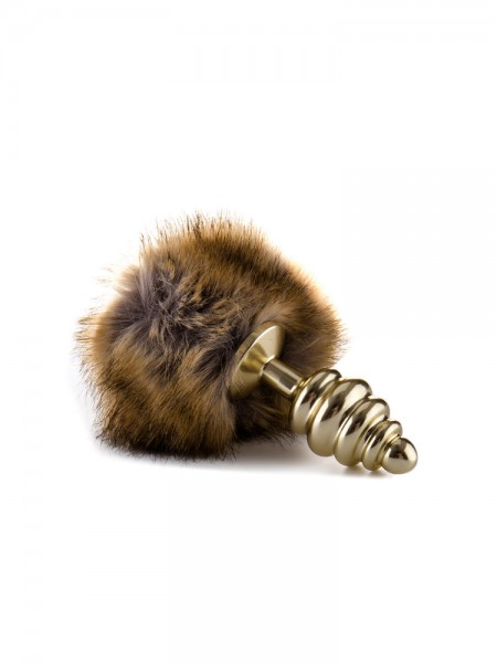 Ouch! Bunny Tail: Plug mit Puschel, gold/braun