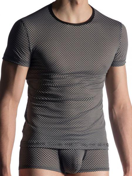 MANSTORE M913: Casual T-Shirt, schwarz/weiß