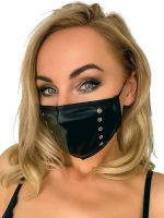 Noir Handmade: Maske Nieten, schwarz