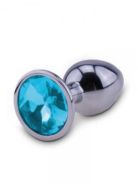 RelaXxxx Silver Starter Plug: Analplug M, silber/blau
