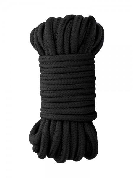 Ouch! Japanese Silk Rope: Bondageseil, schwarz (10m)