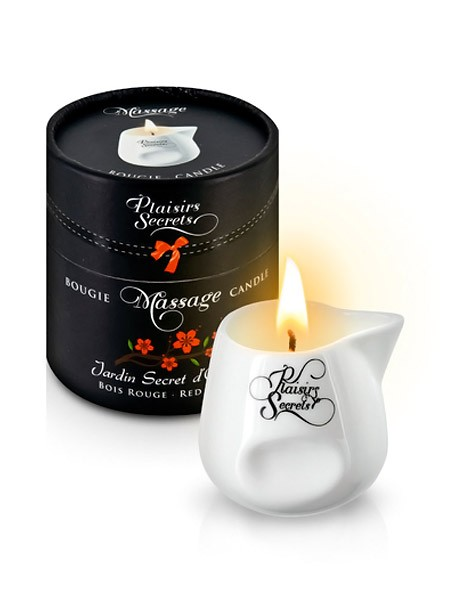 Plaisirs Secrets: Massagekerze Red Wood (80ml)