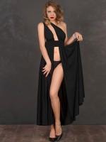 Patrice Catanzaro Margaux: Abendkleid, schwarz