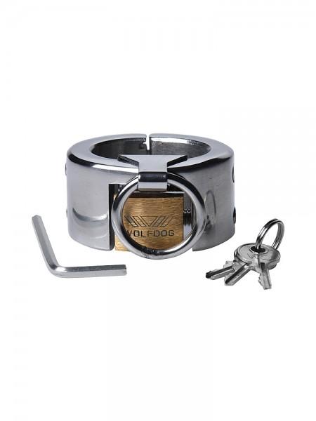 Master Series Fiend Stainless Steel CTB Piercing Chamber: Edelstahl-Hodenstretcher