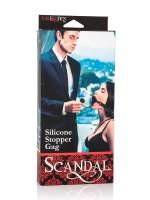 Scandal Silicone Stopper Gag: Knebel, schwarz