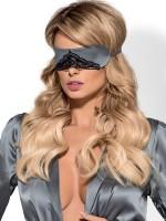 Obsessive Satinia: Augenmaske, grau