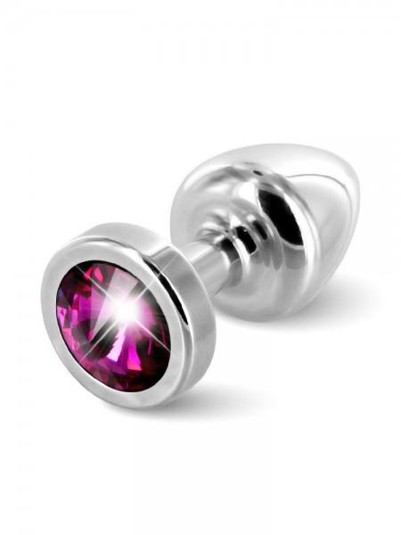 Diogol Buttplug Anni Round: Analplug (25mm), silber/pink