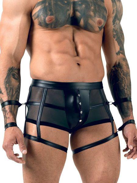 Softbondage-Pant mit Harness, schwarz