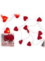 Lichterkette Herzen, rot