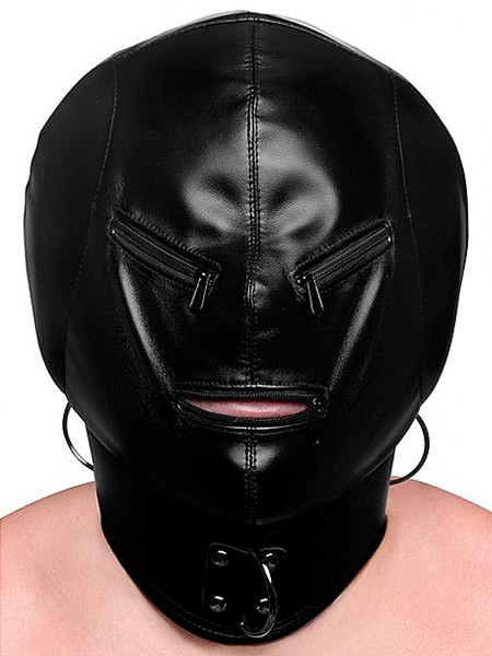 Strict Bondage Hood: Kopfmaske, schwarz