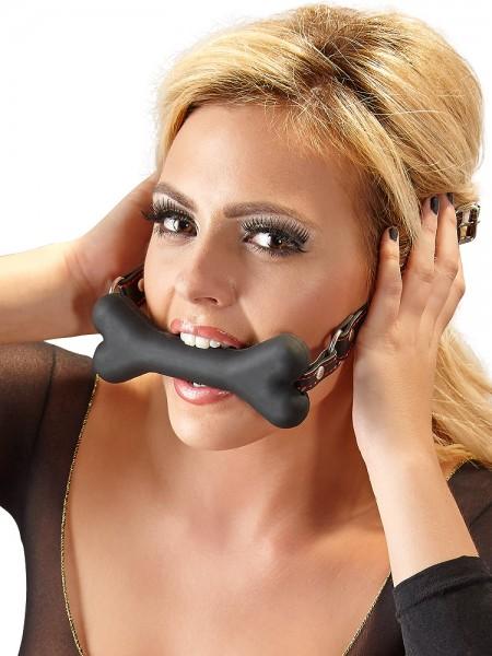 Bad Kitty Bone Gag: Beißknebel, schwarz