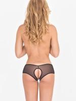 Eros Veneziani Lucia: Ouvert-Panty, schwarz/silber