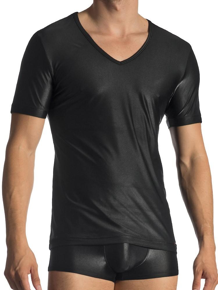 Olaf Benz RED1770: V-Neck-Shirt, schwarz