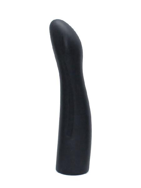 Silikon-Dildo (glatt) für Strap-On (16cm), schwarz