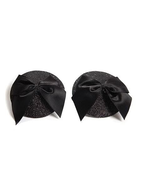 Bijoux Indiscrets Burlesque Bow: Nipple Tassels, schwarz