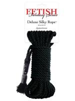 Deluxe Silky Rope: Bondageseil, schwarz (9,75m)