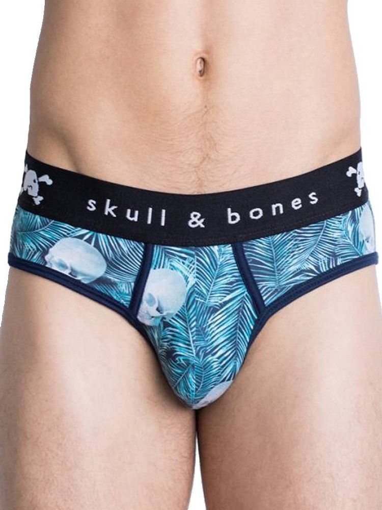 Skull & Bones Palm: Brief, blau