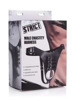 Strict Male Chastity Harness: Keuschheitsgürtel mit Peniskäfig, schwarz