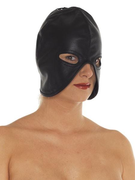 Leder-Henkersmaske, schwarz