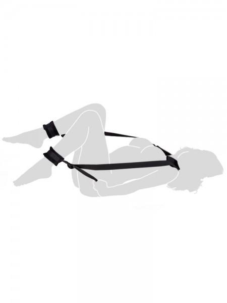 Soft Enhancer Set: Körperfessel mit Fußfesseln, schwarz