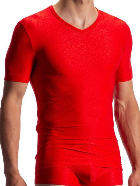 Olaf Benz RED1970: V-Neck-Shirt, rot