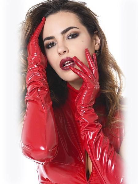Patrice Catanzaro: Lack-Handschuhe, rot