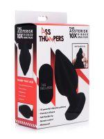 Ass Thumper The Assterisk 10X: Vibro-Analplug, schwarz